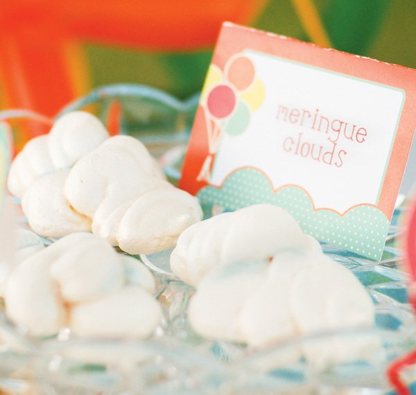 balloon themed party ideas meringue cloud sweets