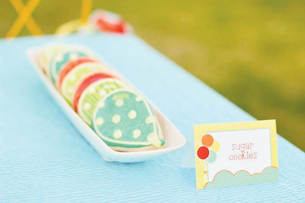 balloon themed party ideas hot air balloon sugar cookies