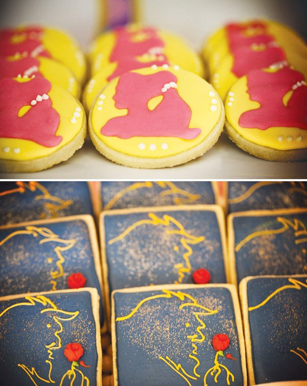 beauty and the beast theme cookies
