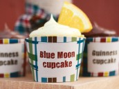 plaid beer tasting party with blue moon cupcakes