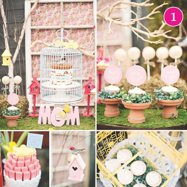 Party of 5 Mothers Day Sweets Table More Creative Party Ideas