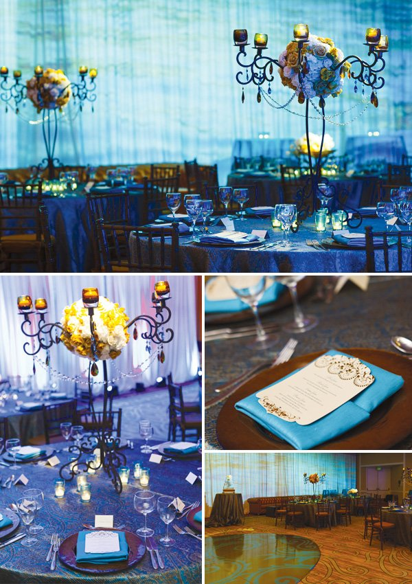 blue empress wedding decorations