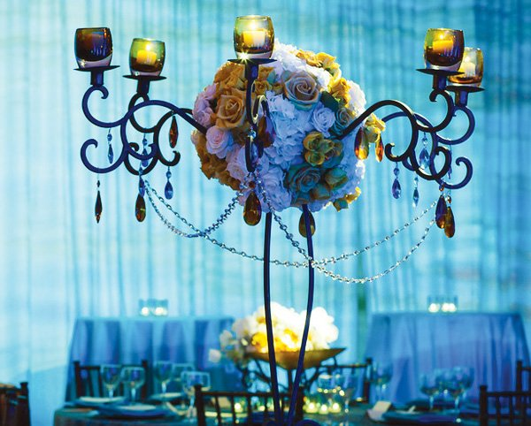 blue empress wedding florals