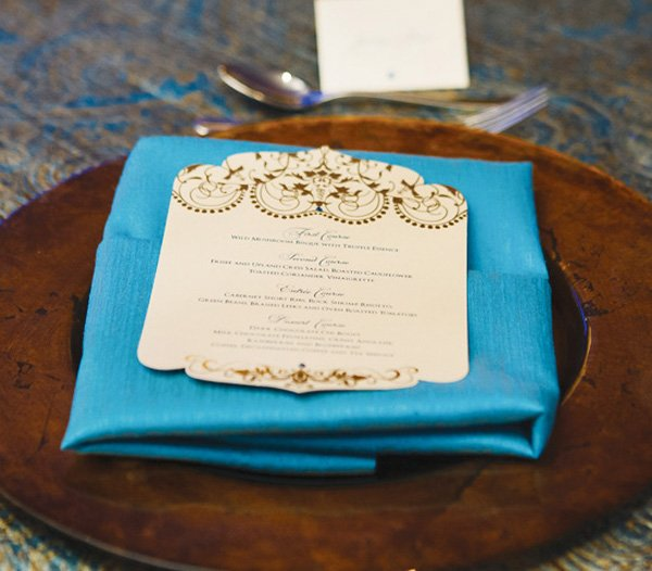 blue empress wedding menu