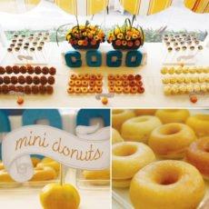 breakfast party mini donuts