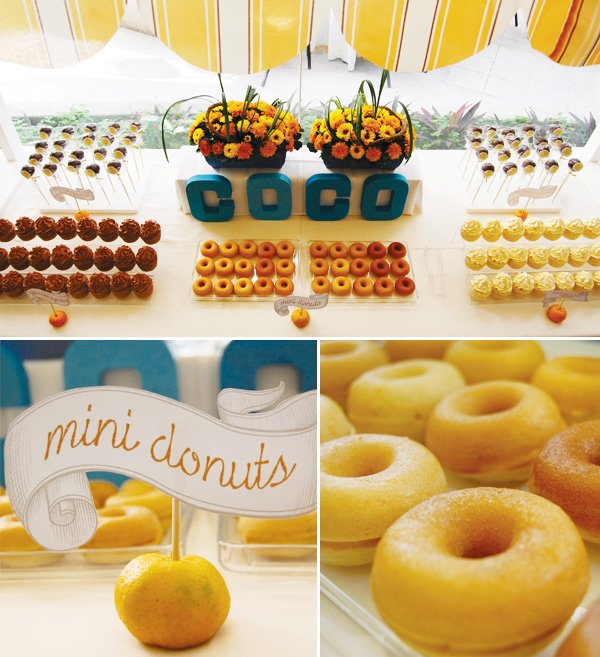 breakfast party mini donuts