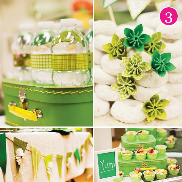 bridesmaid breakfast in green