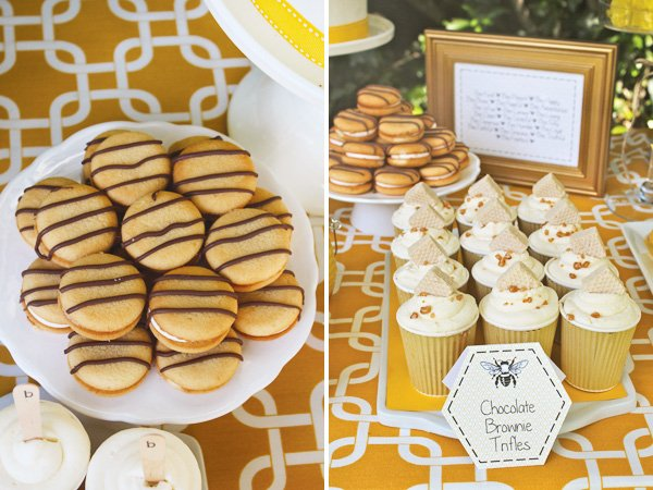 bumble bee party birthday desserts