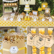 bumble bee party dessert table