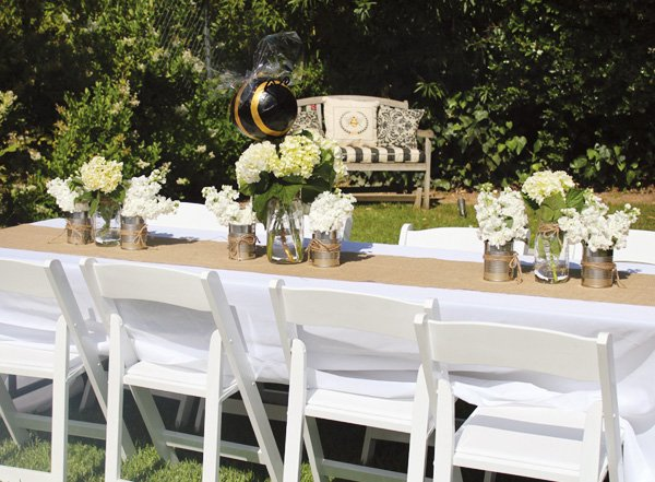 bumble bee party tablescape