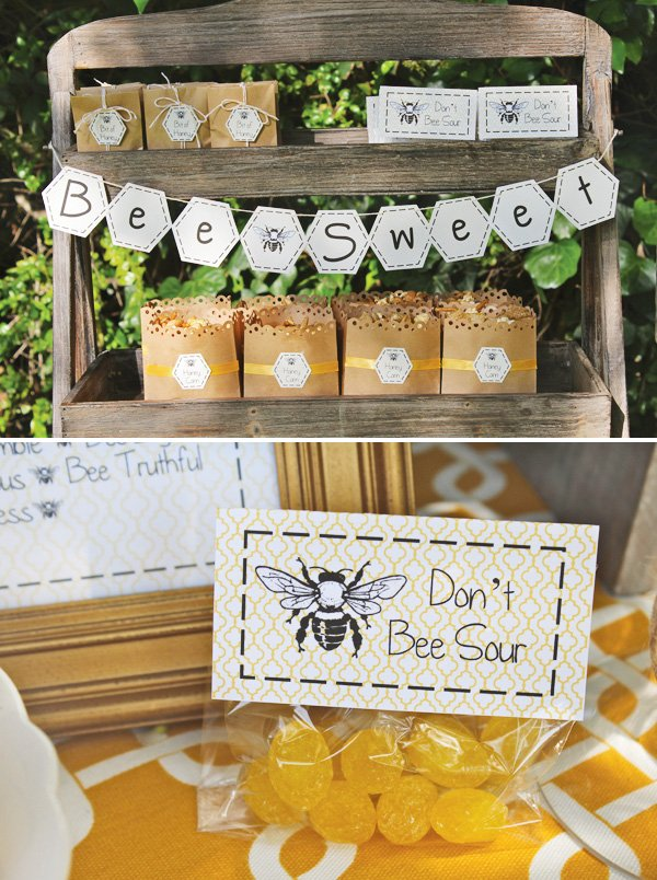 bumble bee party theme candy