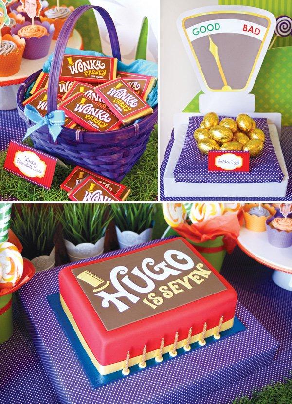 candy willy wonka birthday party chocolate cake