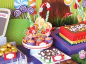 candy willy wonka birthday party decorations
