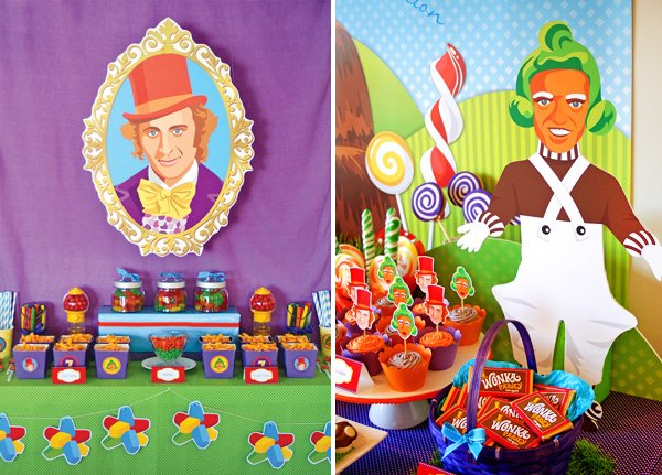 candy willy wonka birthday party oompa loompa backdrop