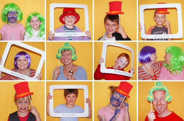 candy willy wonka birthday party photo booth props