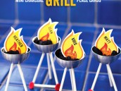 bbq charcoal grill place card holders
