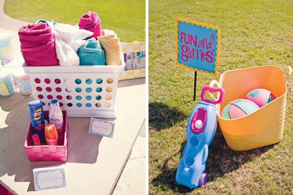 chevron first birthday party outdoor games