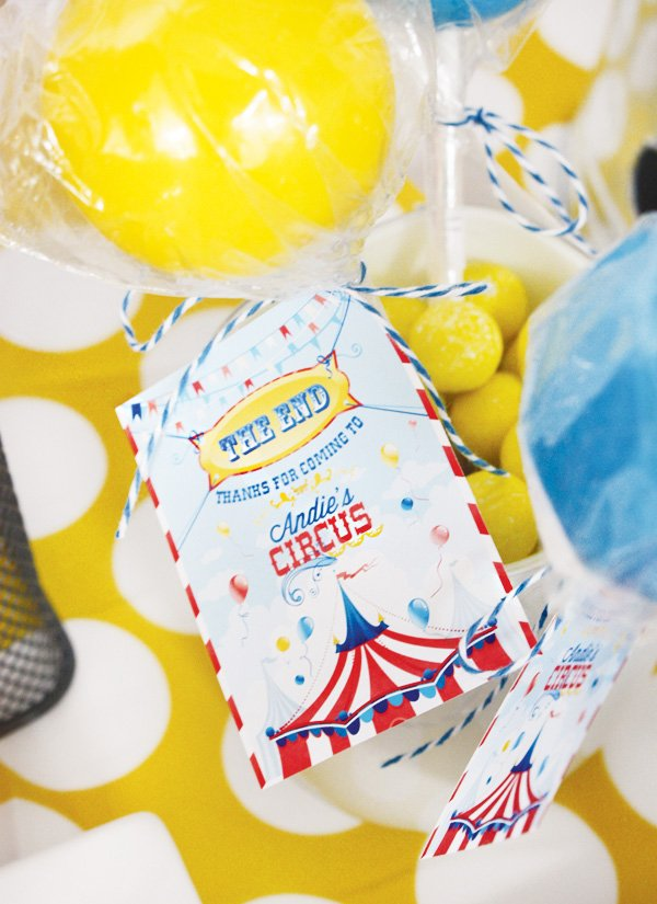 magical circus birthday party favors