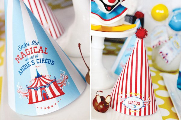 magical circus birthday party hats