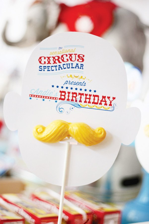 magical circus birthday party ring leader chocolate mustache