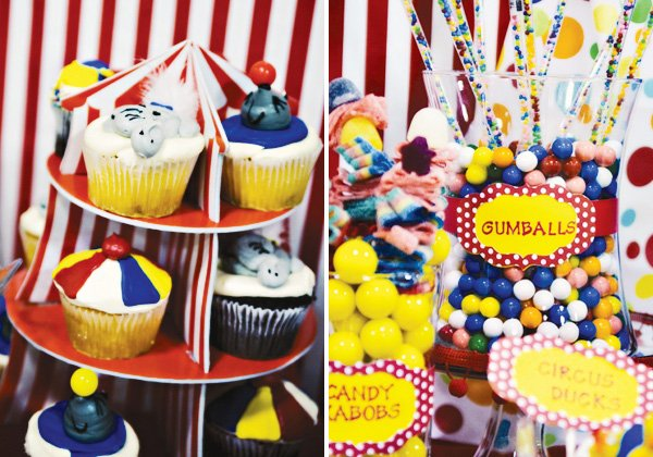 circus party ideas animal cupcakes