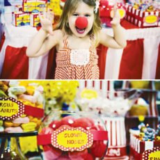 circus party ideas with clown noses