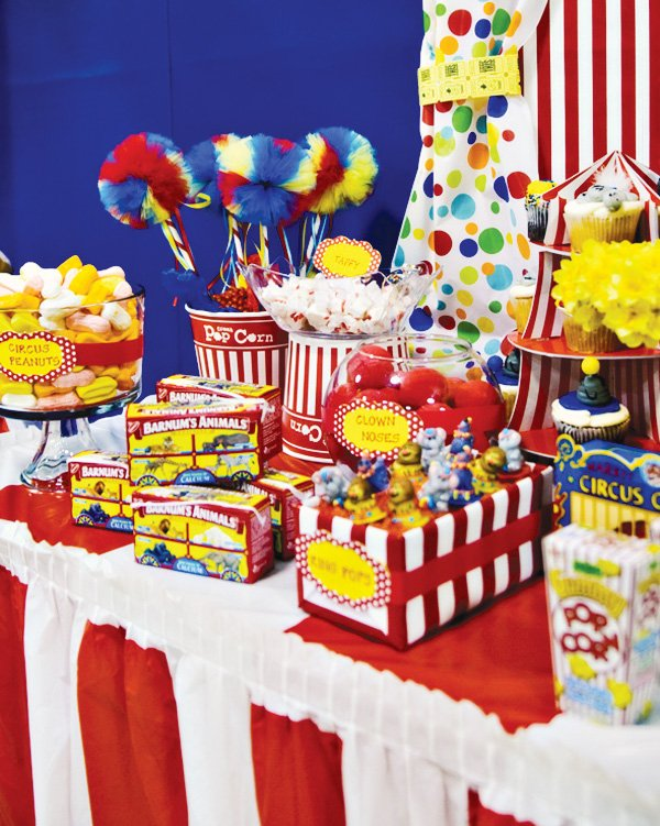 Carnival of dreams circus party ideas hostess with the mostess - Carnival party menu ...