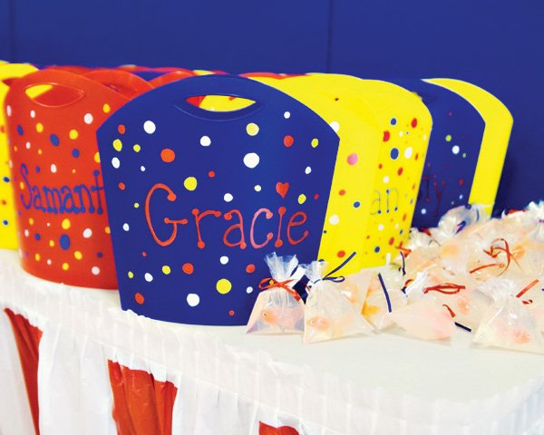 circus party ideas goldfish soap favors