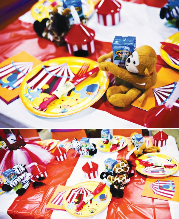 circus party ideas kids table