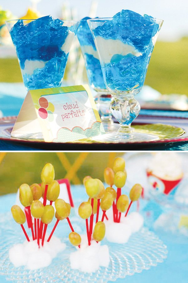 balloon themed party ideas cloud parfaits