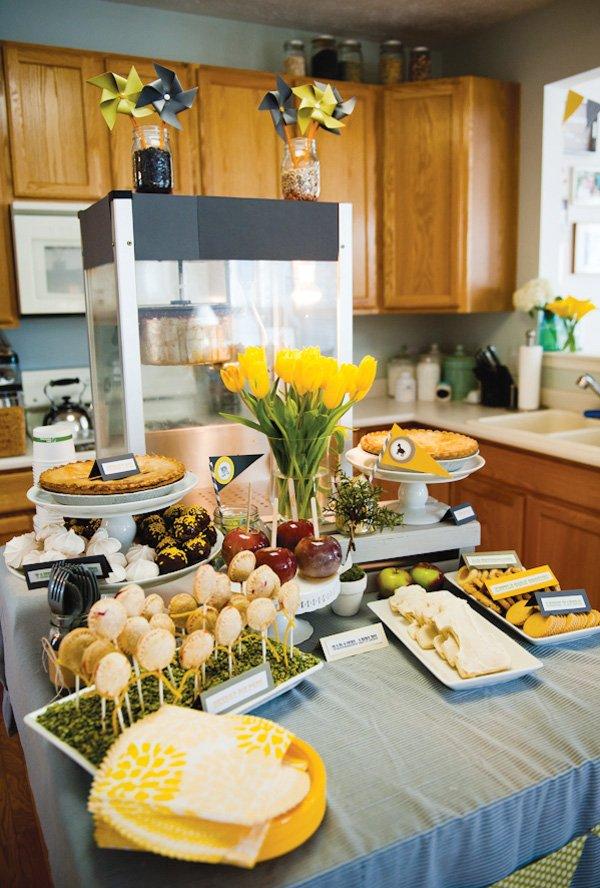 county fair birthday party dessert table