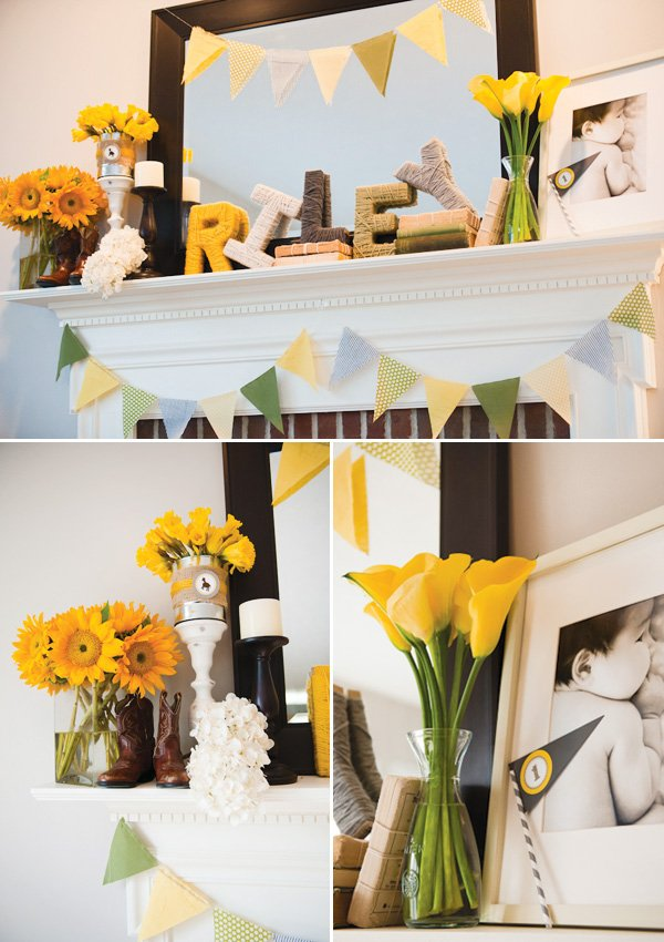 county fair theme in yellow with beautiful flowers