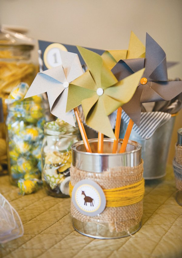 county fair party with pinwheels