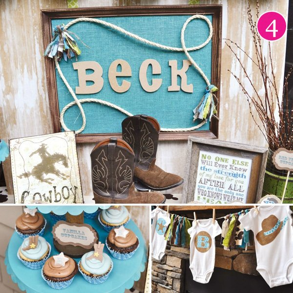 cowboy baby shower with boots