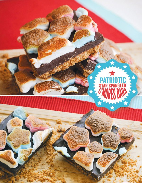 diy tutorial for patriotic s'mores bars