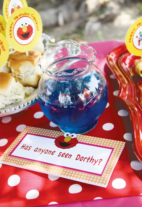 dorothy fish bowl for a sesame street party