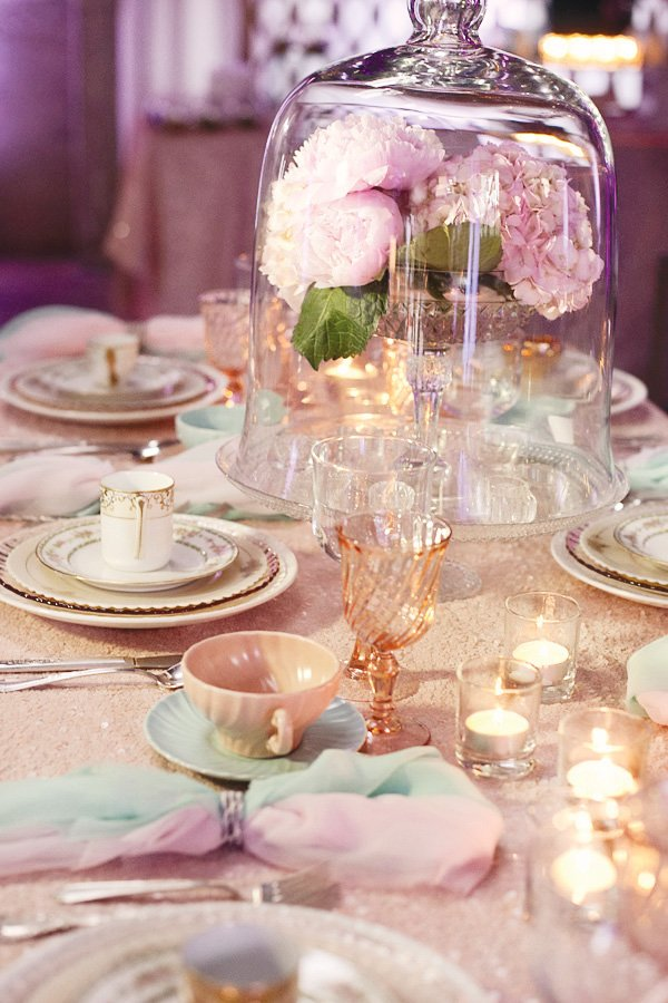 dream wedding event sparkle table setting