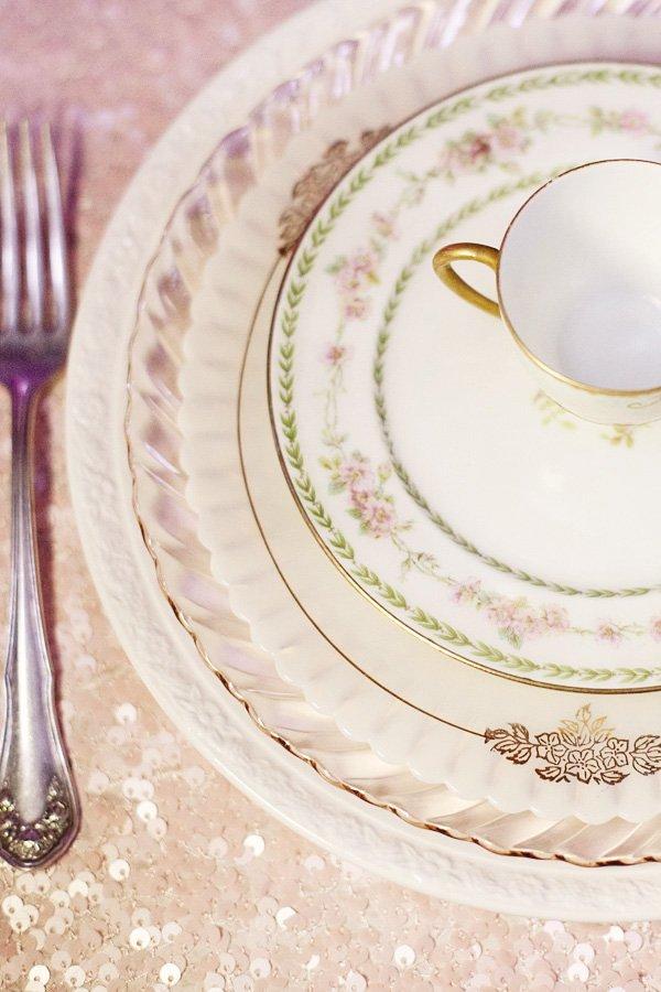 dream wedding event sparkle dishes