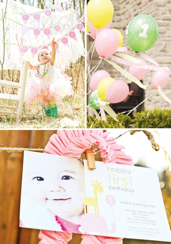 dreamy pink princess safari party invitation