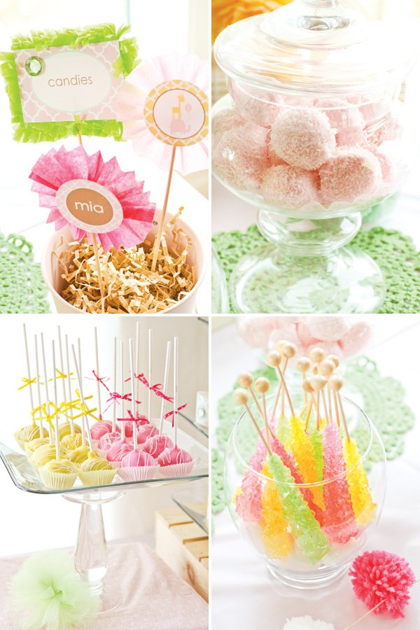 dreamy princess safari party with candy and cake pops