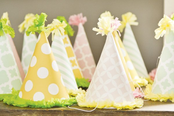 dreamy princess safari party hats