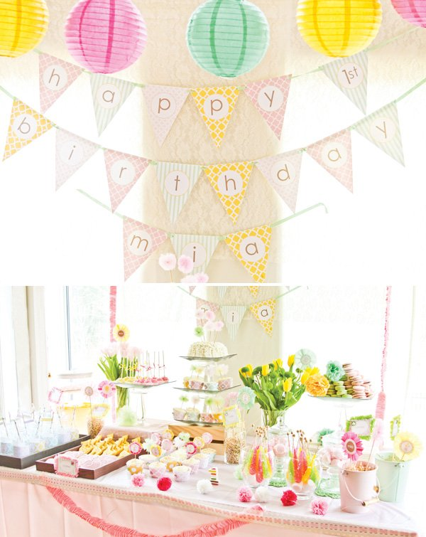 dreamy princess safari party dessert table