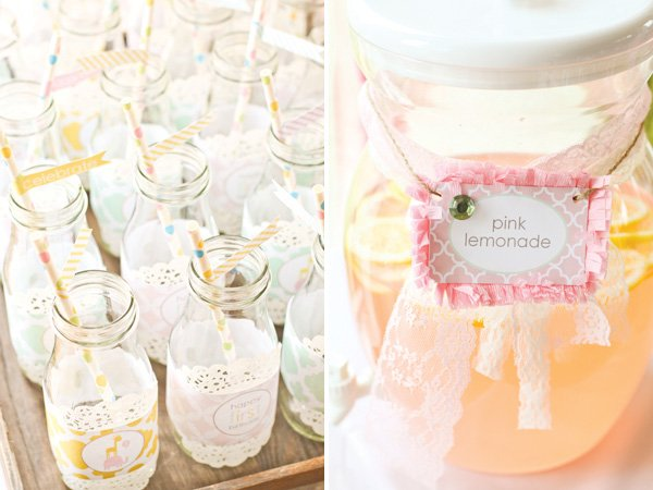 dreamy princess party with pink lemonade