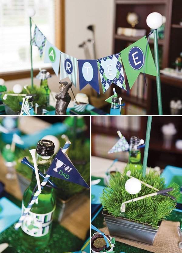 Father's day golf party bunting