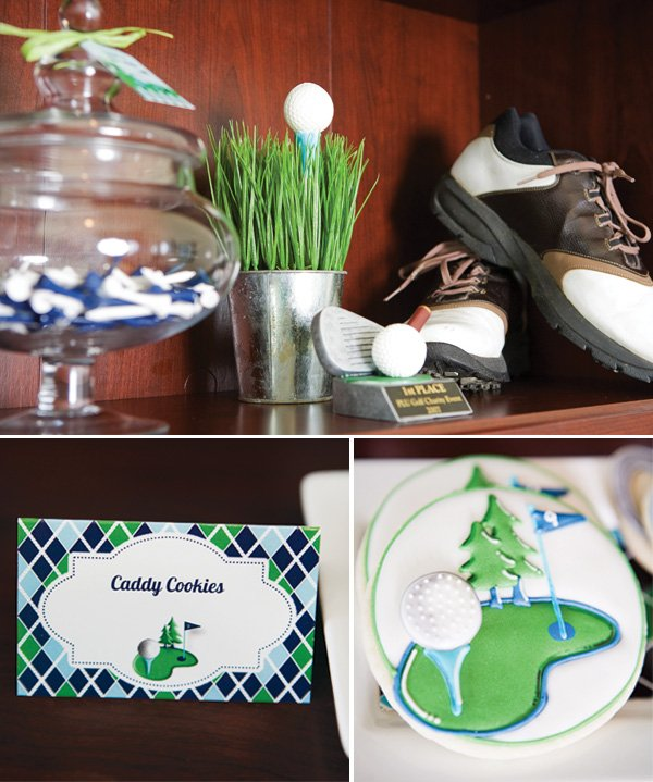Father's day golf party cookie labels