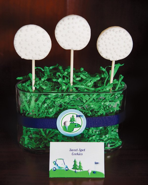 Father's day golf party sweet spot cookies