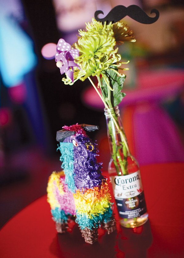 mexican theme fiesta engagement party with mini pinatas