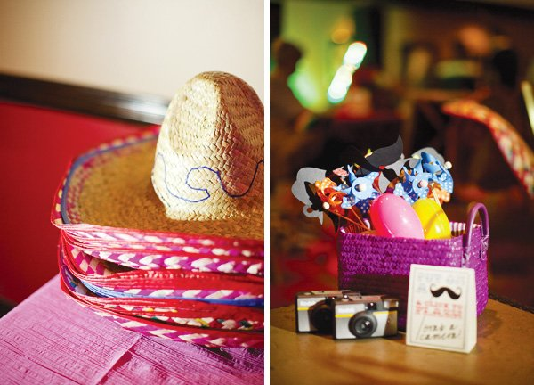 mexican theme fiesta engagement party photo booth props