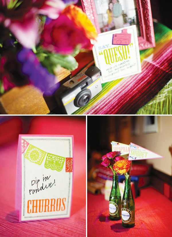 "mexican theme fiesta engagement party ""queso"""