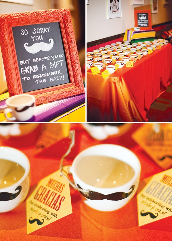 mexican theme fiesta engagement party mug favors